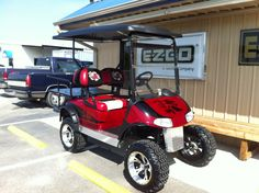 Red Lifted Golf Cart Freedom Se on