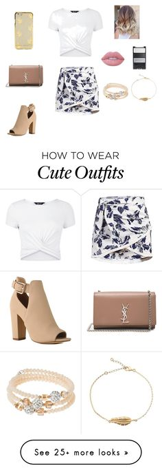 """""""Cute outfit"""" by stuff4m on Polyvore featuring New Look, Yves Saint Laurent, sweet deluxe and Lime Crime Date Outfits, Skirt Outfits, School Outfits, Outfits For Teens, Casual Outfits, Summer Outfits, Teen Fashion, Fashion Outfits, Womens Fashion"""