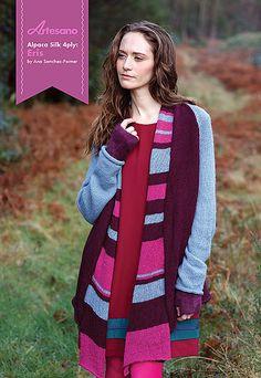 Artesano Pattern: Eris Cardigan & Scarf in Alpaca Silk 4 Ply