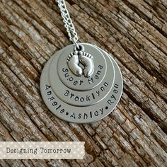 #Baby #FromBumpToBaby #WeeShare #Giveaway  Head on over to Wee Share to enter for a chance to win one of three Personalized Metal Stamped Baby's Birth Necklaces from Designing Tomorrow!   From Bump To Baby: Designing Tomorrow Baby Necklace {Giveaway} | Wee Share