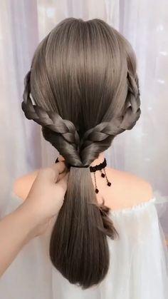 Hairdo For Long Hair, Easy Hairstyles For Long Hair, Pretty Hairstyles, Girl Hairstyles, Hairdos, Updos, Hair Videos, Food Videos, Hair Up Styles