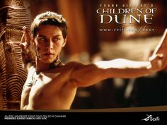 Publicity poster for 'Children of Dune' with James McAvoy as Leto Atreides II. (2003)