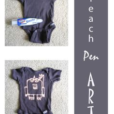 baby shower craft! Hav everyone sign it w/the bleach pen at the shower!!