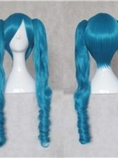 New Arrival Vocaloid Cosplay Blue Wig with Two Ponytails    Original Price: $180.00 Latest Price: $68.19