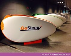 Free sleeping pods in Helsinki airport
