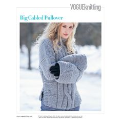 BIG CABLED PULLOVER
