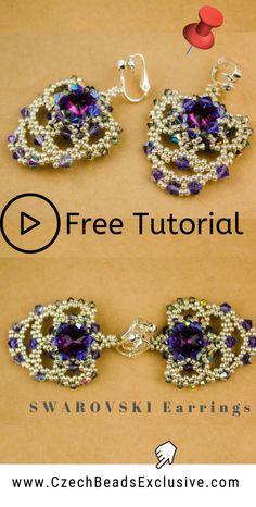 seed bead tutorials for beginners Seed Bead Bracelets Tutorials, Beaded Bracelets Tutorial, Earring Tutorial, Beads Tutorial, Beaded Necklaces, Jewelry Bracelets, Beaded Earrings Patterns, Crochet Earrings, Kegel