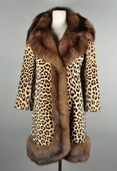 RARE 1950s GALANOS Leopard & Russian Sable Fur by deltasvintage, $8999.99