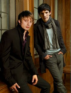 Bradley James and Colin Morgan (King Arthur and Merlin) <3