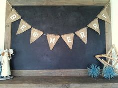 Be Merry Christmas Triangle Burlap Flag Pennant Bunting Holiday Season by SweetThymes, $24.99