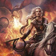 A Song of Ice and Fire Calendar • art by Magali Villeneuve • Aug 2016 ::Daenerys Targaryen