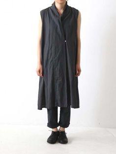 cotton linen sleeveless robe