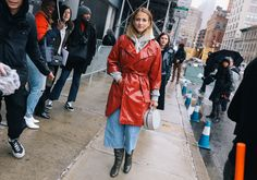 #StreetStyle   #NYC  Annie Georgia Greenberg