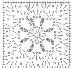Crochet chart for square