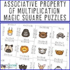 Associative Property of Multiplication Math Games, Centers, Review, or Test Prep | 3rd, 4th grade, Activities, Games, Homeschool, Math, Math Centers, Math Test Prep, Mental Math