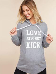f9d1379c82 Love At First Kick Maternity Sweatshirt | Motherhood Maternity Maternity  Work Clothes, Maternity Tops,