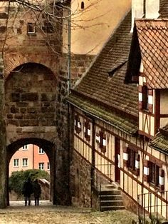Looking down from the old city of Nuremberg, Germany
