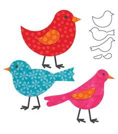 AccuQuilt Go! Fabric Cutting Dies It Fits! Birds