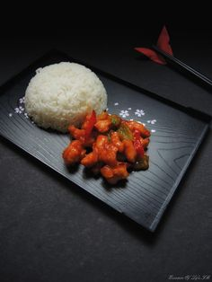SWEET & SOUR CHICKEN : Sweet & Sour method is one variation in Chinese Cuisine, which is fancied all around the world.  It is cooking Chicken, Fish, Pork or Tofu along with Sweet & Sour Sauces.  It goes extremely well with simple Fragrant Jasmine Rice or Fried Rice Varieties.