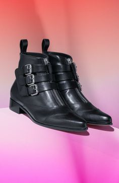 Love the buckles on this ankle bootie