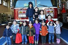 Firehouse birthday party, complete with fun food and a tour of the fire station
