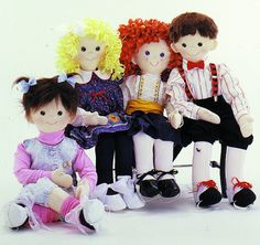 Wallflowers Set, Easy to sew, life size 'Dance with me' dolls by ...