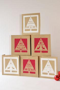 Scandanavian style Christmas cards
