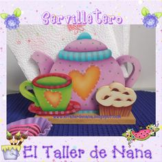 El Taller de Nana: Servilletero en Madera - Pintura Country Foam Crafts, Diy Crafts, Wood Craft Patterns, Stencil, Country Paintings, Victorian Decor, Country Art, Tole Painting, Craft Work