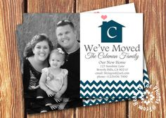 We've Moved Photo Announcements Announcement, New Homes, House Ideas, Change, Cute, Kawaii