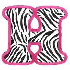 printable pink zebra print letters google search