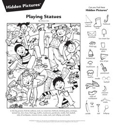 Highlights in the Classroom English Activities, Craft Activities For Kids, Worksheets For Kids, Learning Activities, Hidden Picture Games, Hidden Picture Puzzles, Hidden Pics, Hidden Object Puzzles, Hidden Objects