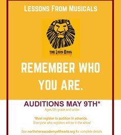 Lessons From Musicals - Theatre Nerds The Lion King Remember, Remember Who You Are, Broadway Quotes, Musical Theatre Broadway, Lion King West End, Ending Quotes, Theatre Nerds, Theater, Vocal Coach