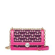 Miu Solitaire jacquard and leather bag Miu Miu Clutch, Miu Miu Handbags, Miu Miu Shoes, Purse Wallet, Coin Purse, Jacquard Fabric, Embossed Logo, Shoulder Pads, Shoulder Strap