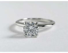 Classic Four Prong Solitaire Engagement Ring in Platinum | Blue Nile