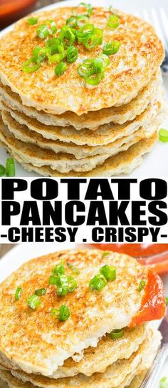 Quick and easy mashed POTATO PANCAKES recipe, ready in just 30 minutes. These potato pancakes from mashed potatoes are great as breakfast, brunch, dinner. From cakewhiz.com #pancakes #breakfast #brunch #potatoes #potato #recipeoftheday #recipes #dinnerrecipes #dinner #stpatricksday #thanksgiving