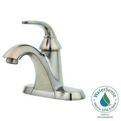 Pfister Pasadena 4 in. Centerset 1-Handle Bathroom Faucet in Brushed…