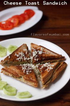Easy Cheese Toast Sandwich Recipe with step by step photos. Cheese toast sandwich is our favorite and make them quite often. Veg Sandwich, Panini Sandwiches, Toast Sandwich, Grilled Sandwich, Breakfast Sandwiches, Indian Breakfast, Breakfast For Dinner, Cheese Toast, Easy Cheese