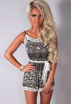 048f648d770 Briana Multicolour Patterned Playsuit