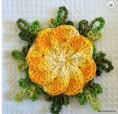 Flower cockscomb step by step - Flor Crista de galo passo a passo   Crochet