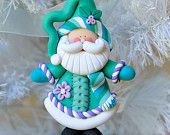 Handcrafted Polymer Clay Santa Claus Ornament