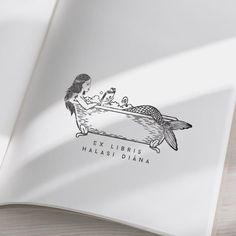 Cute Tattoos, New Tattoos, Tatoos, Mermaid Drawings, Mermaid Art, Ex Libris, Sea Life Tattoos, Vintage Nautical Decor, Mermaid Illustration