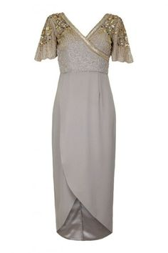 Virgos lounge Julisa Dress Grey , JULISADRESSGREY £85