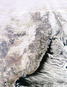 The Sikhote–Alin mountain range in Russia's Far East.
