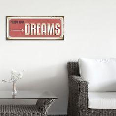 Das Leben ist viel zu kurz für ein Irgendwann und für Träume, die immer nur Träume bleiben. Denn man weiß nie, was einen als nächstes erwartet. Wir helfen Dir, deinen Traum nicht aus den Augen zu verlieren! FOLLOW YOUR DREAMS ... mit den wunderschönen Wanddekorationen von cuadros lifestyle ...