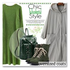 """""""Street Style :: Oversize Coat"""" by jecakns ❤ liked on Polyvore featuring Hooded Trench"""