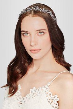 f0d4a17380ca Jennifer Behr - Celeste rhodium-plated Swarovski crystal headband