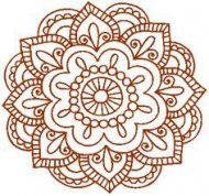 Design a mandala and have it tattooed in henna color. Looks like henna forever Mandala Art, Lotus Mandala, Mandala Drawing, Mandala Pattern, Henna Patterns, Embroidery Patterns, Floral Patterns, Geometric Patterns, Henna Motive
