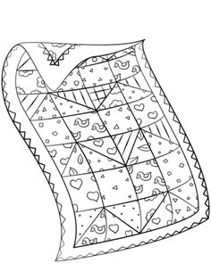 Coloring Quilt Clipart Black And White in 2020 Pattern coloring pages Coloring pages Free printable coloring pages