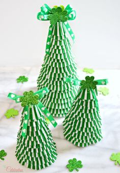 Create a happy forest for the leprechauns! These Cupcake Liner St. Patrick's Day Trees are super easy to make and so cute!