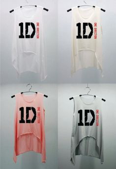 one direction merchandise | 1D ONE DIRECTION Pink T Shirts Tank Top Tunic Blouse high waist women ...